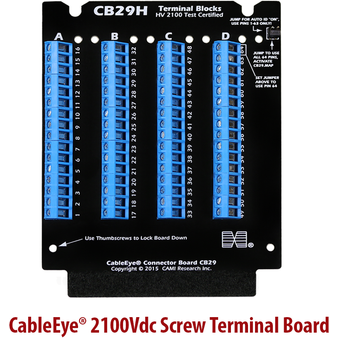 2100Vdc Screw Terminal Connector Board | Cable & Harness Tester