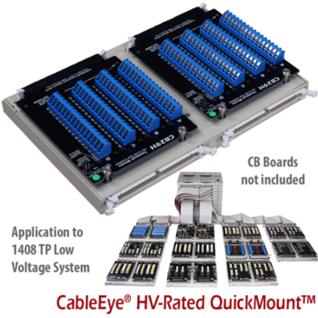 CableEye® HV-Rated QuickMount™ Housing for CAMI Connector Boards